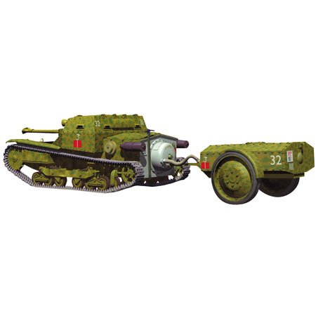 CV3/35Lf Small Tank With Fire Radiation Tipe Trailer (Plastic (Plastic (Plastic model) 447a0c