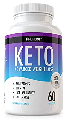 Ketogenic Diet Pills - BHB Supplement for Keto Diets for Ketosis Energy and Weight Loss Far Burner Support - Keto BHB Pills to Burn Fat Not Carbs - 60 Capsules Pure Therapy