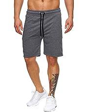 Tazzio Herren Sweatshort Jogginghose Fitnesshose Traininghose Sweatpants Sporthose Freizeithose 17600