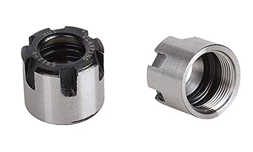 ZXHAO Precision Collets Mini Collet Chuck Nut ER11-M Clamping Collet Nut CNC Milling Lathe 2Pcs by ZXHAO