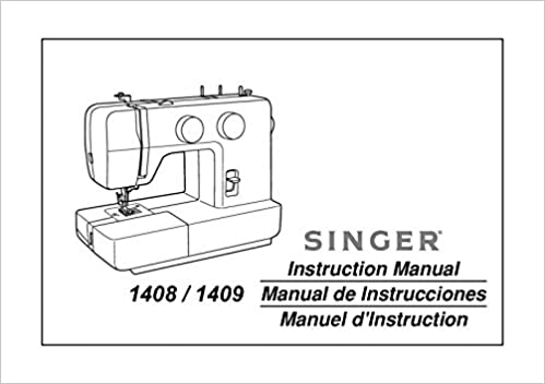 Singer 4040 Sewing MachineEmbroiderySerger Owners Manual Cool White 1409 Sewing Machine Manual