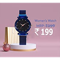 Avicii Diamond Series Blue Magnet Analogue Watch for Women's and Girl's Pack of - 1(AVD-170)