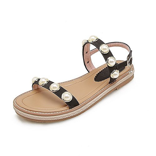 BalaMasa Womens Sandals Studded Soft-Toe Urethane Sandals ASL05014 Black fDrB1YyAZ