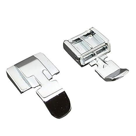 Prensatelas de Cremallera Doble Compatible con compatible para Brother, Janome, Toyota, Nueva Singer Nacional Máquinas de Coser: Amazon.es: Hogar