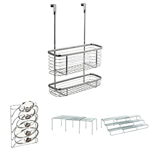InterDesign Axis Over the Cabinet Kitchen Storage Organizer Tray for Sponges, Scrubbers, Brushes 41Fj NHOInL