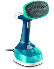 T-Fal DT7050 Access Steam Minute Travel, Versatile Handheld Steamer, steam Iron, Refresh, sanitize Clothes, Couch Covers, Curtains, Blue/White