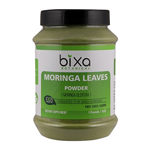 Moringa Leaf Powder (Moringa Oleifera), Multi-Vitamin Green Super Food Supplement ǀ Helps in Joint Pain and Blood Circulation ǀ Pure Natural Nutrition Supplement - 16 Oz (1 Pound)