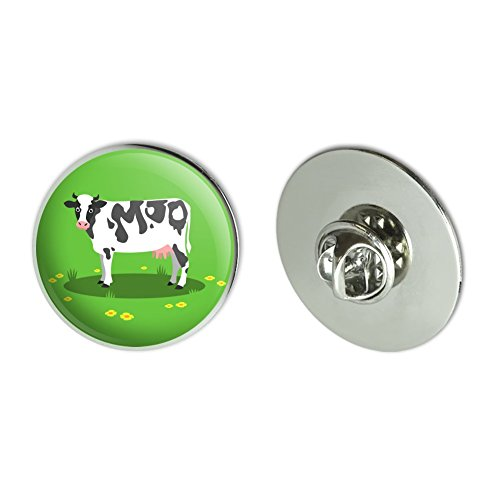 Dairy Cow In Field with Flowers Metal 1.1