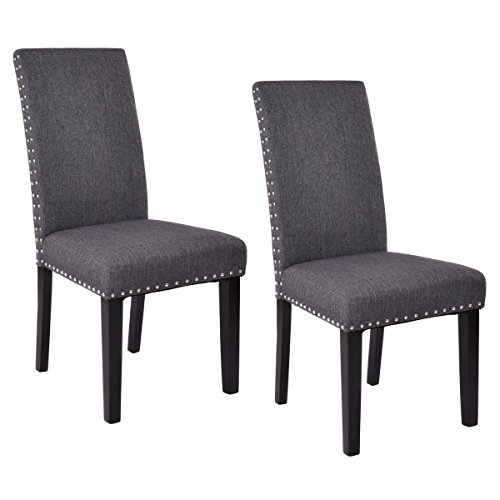 kitchen accent furniture giantex set of 2 dining chairs fabric upholstered armless 12837