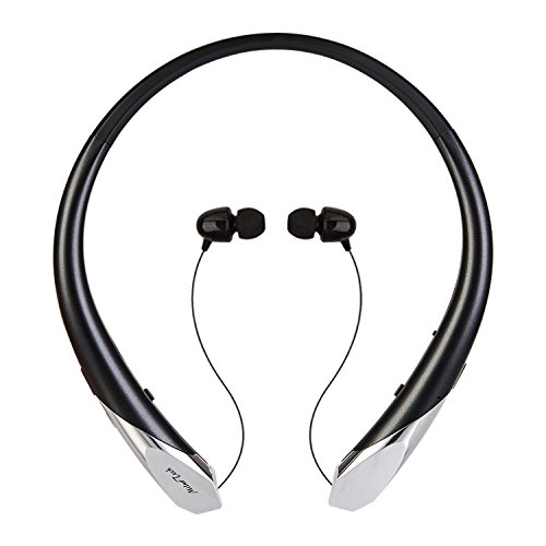 Wireless Stereo Bluetooth Sports Neckband Earphone (Black) - 6