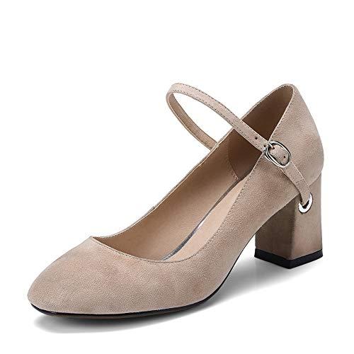 Dance Shoes Solid Womens apricot BalaMasa Pumps APL11041 Ballroom Nubuck Urethane BtwBE0q