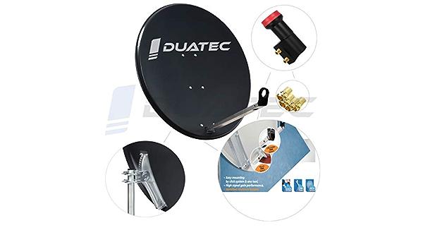 Duatec - Antena parabólica de 120 cm para Dos usuarios ...