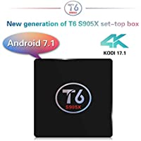 SIKAI T6 [Android 7.1] TV Box [Amlogic S905X] [Quan Core] [64-bit] [3D 4K HD] [2.0GHZ WiFi] [KODI 17.1] [1G RAM+ 8G ROM] [Cortex A53] [HDMI 1080P] [With Remote Control] [US Version]