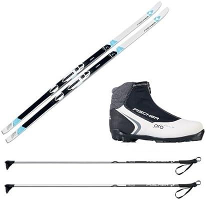 Pack de esquí de fondo para mujer Fischer Elegance con fijaciones, botas y bastones, M (174 cm Länge) - für 70 bis 85 kg: Amazon.es: Deportes y aire libre