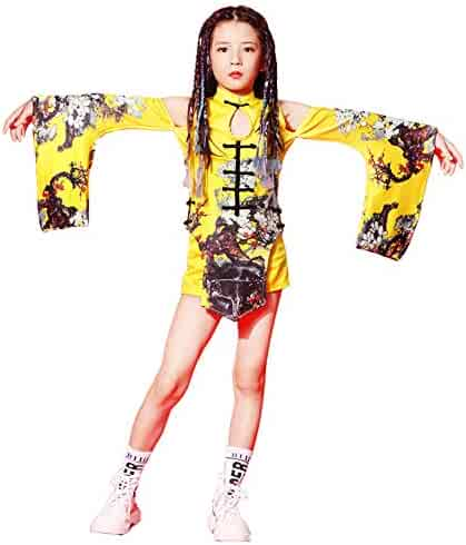 4cf50e137142 Girls Modern Jazz Dance Costume Kids Chinese Traditional Cheongsam Dancewear