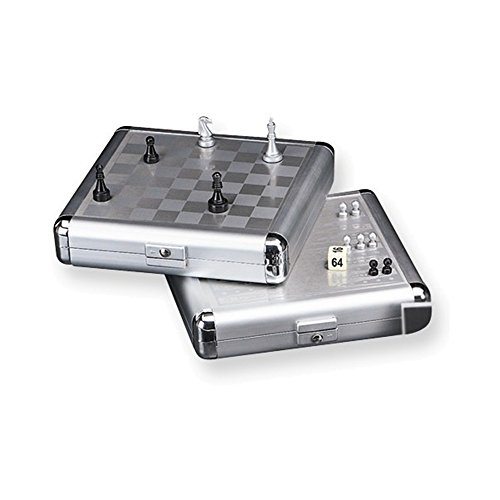 Pearl-finish Travel Chess & Backgammon Set - Italian Backgammon