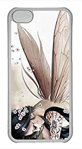 iPhone 5c case, Cute Anime Butterfly Elves iPhone 5c Cover, iPhone 5c Cases, Hard Clear iPhone 5c Covers
