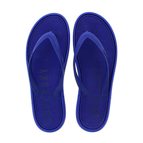 Superdry Overskudd Varer Flip Flop - Spenning Blå / Mørk Marineblå ( menneskeskapte) Mens Sandaler