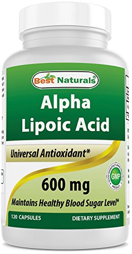 Best Naturals Alpha Liopic Acid 600 mg 120 Capsules - ALA Alpha Lipoic Acid Powerful Antioxidant