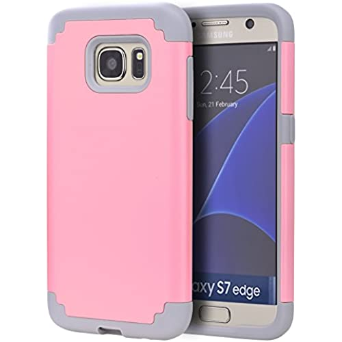 S7 Edge Case,SAVYOU Galaxy S7 Edge Phone Protective Case [Shock Proof] Dual Layer Hybrid Defender Armor Case Cover For Samsung Galaxy S7 Edge (Pink Sales