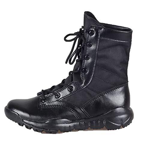 snfgoij Stivali Militari Tattici Uomini Sabbia Deserto Leggero Traspirante Stivali da Combattimento per L'Estate Alta Desert Boots Alpinismo Black