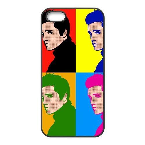 Elvis 003 coque iPhone 5 5S cellulaire cas coque de téléphone cas téléphone cellulaire noir couvercle EOKXLLNCD23480