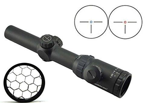 Cheap Visionking Rifle Scope 1.25-5×26 Riflescope IR Hunting 30 mm Three-pin with a Honeycomb
