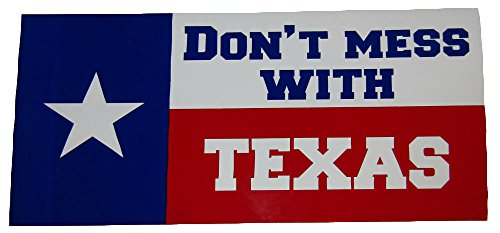 K's Novelties Wholesale Lot 6 Texas Don't Mess with State Flag Bumper Sticker Decal 3.75