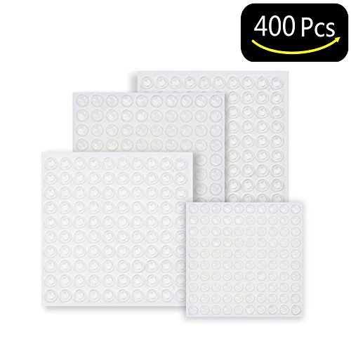 Cabinet Picture Frame - Clear Adhesive Rubber Bumper Pads-400 Pcs Sound Dampening Transparent Rubber Feet for Cabinet Doors,Drawers,Picture Frames,Glass Tops,Cutting Boards by Hedonism