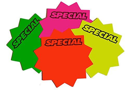 """2.25"""" Round Starburst Cards-SPECIAL (100)"""