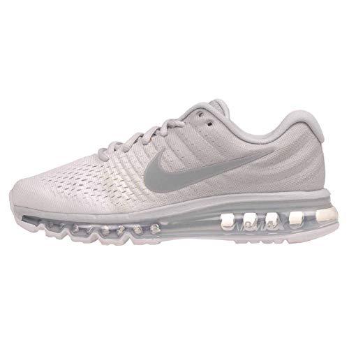 Nike Women's WMNS Air Max 2017, Pure PlatinumWolf Grey White, Size 10