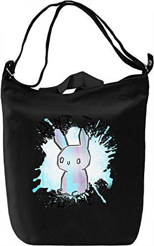 Antisocial Bunny Borsa Giornaliera Canvas Canvas Day Bag  100% Premium Cotton Canvas  DTG Printing 