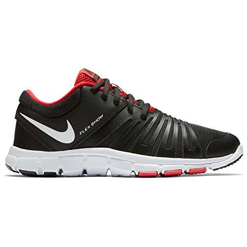 Nike Flex Show Tr 5 (Gs/Ps), Zapatillas de Senderismo para Niños Negro (Black / White-University Red)
