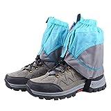 TRIWONDER Gaiters Low Gators Lightweight Waterproof Ankle Gaiters for Hiking Walking Backpacking (Blue & Gray)