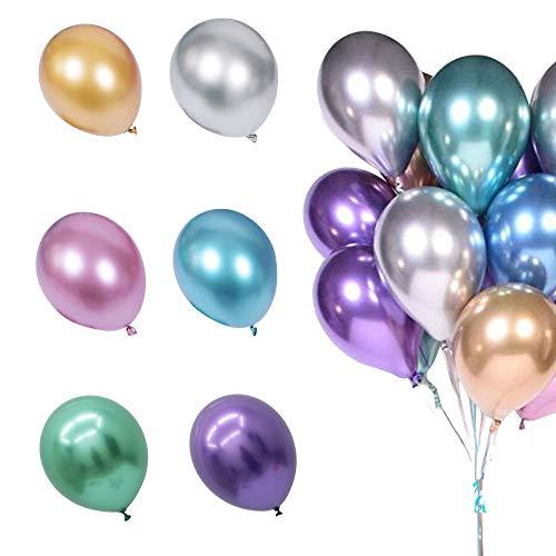 50Pcs Chrome Balloons 3g Thicken 12