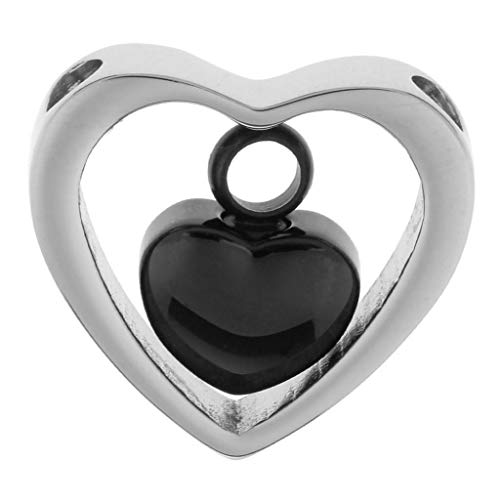 - Stainless Steel Double Heart Urn Pendant Cremation Ashes Keepsake Memorial Necklace Jewelry Crafting Key Chain Bracelet Pendants Accessories Best