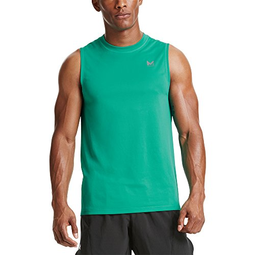 Mission Men's VaporActive Alpha Sleeveless T-Shirt, Dynasty Green, X-Large