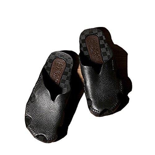 5 Hommes 2018 XIE Foncé Couleur Toe Sandales Porter taille slip 10 Noir Brun Clip Femmes Plage Nouveau Noir us7 D'été 44 5 9 40 De 5 8 Noir Et Hommes UK Couple 9 Non uk7 Pantoufles 43 US pqErEwHd