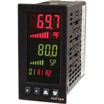 Red Lion PAX2C Temperature/Process PID Controller, 1/8 DIN, vertical