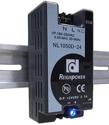 REIGNPOWER NL1050D-24 50W 24VDC 2.1A Din Rail Power Supply