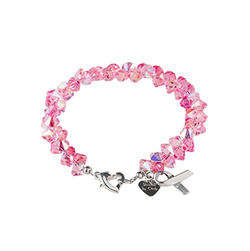 Shimmer by Cindy Breast Cancer Awareness Crystal Rock Candy Bracelet
