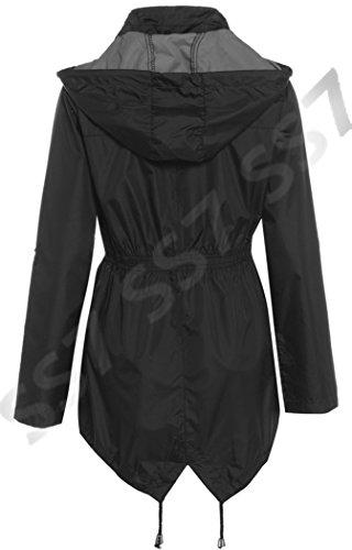 SS7 Veste de Pluie Femmes, Bordeaux, Marine, tailles 38 à 44 - Noir, 40