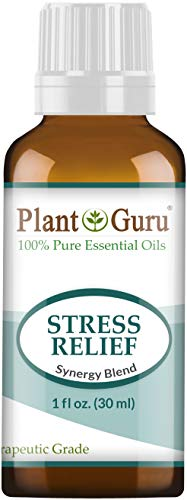 Stress Relief Essential Oil Blend 1 oz / 30 ml 100% Pure, Undiluted, Therapeutic Grade. Anxiety, Depression, Relaxation, Boost Mood, Uplifting, Calming, Aromatherapy, Diffuser.