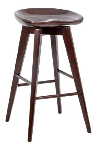 Boraam 54129 Bali Bar Height Swivel Stool, 29-Inch, Cappuccino (Contemporary Kitchen Stools)