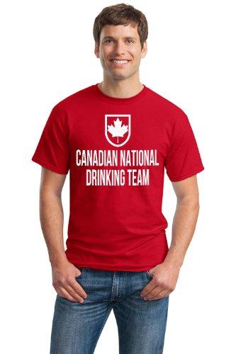 JTshirt.com-20032-CANADIAN NATIONAL DRINKING TEAM Unisex T-shirt / Funny Canada / Canuck Beer Tee-B00BCCDNFO-T Shirt Design