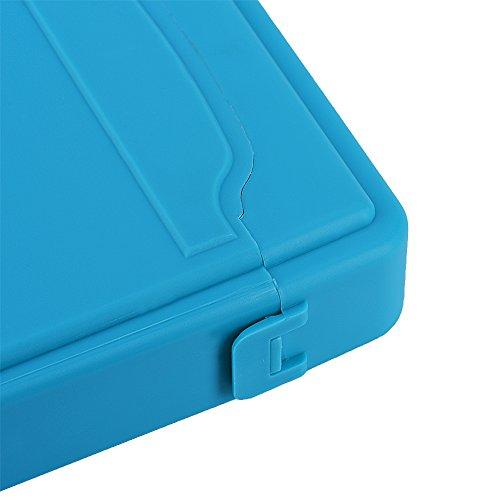 Asixx SSD Storage Box, HDD Storage Box 3.5inch Hard Case HDD SSD Anti-static Disk Storage Box Shockproof Dust-proof Non-slip(3.5inch)(Blue) by Asixx (Image #4)