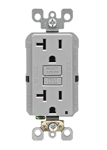 Leviton GFNT2 GY SmartlockPro Non Tamper Resistant Receptacle