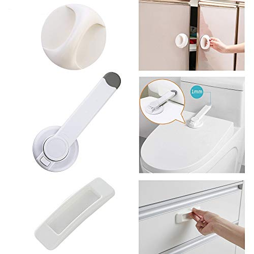 Baby Safety Toilet Lock, Special Child Toilet Lock for Bathroom Baby Proof Toilet Lid Lock Professional Top Safety Toilet Seat Locks No Tools Needed Easy Installation Fits Most Toilets - White