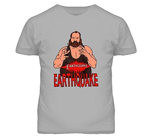 Earthquake Retro Wrestling T Shirt M Sport Grey by The Village T Shirt Shop