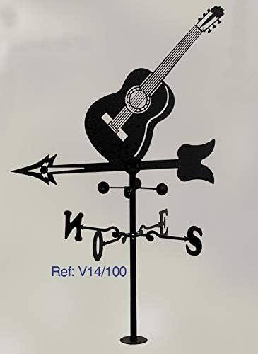 Rustiluz Veleta de forja. con Silueta Guitarra. Viento: Amazon.es ...